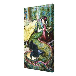 Puerto deportivo y el dragón impresiones en lona estiradas