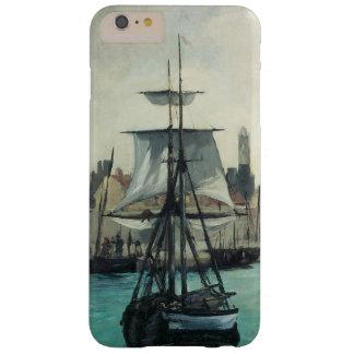 Puerto en Calais por Manet, arte del impresionismo Funda Para iPhone 6 Plus Barely There