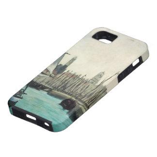 Puerto en Calais por Manet, impresionismo del iPhone 5 Case-Mate Carcasa