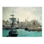 Puerto en Calais por Manet, impresionismo del Postal