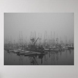 Puerto en la niebla impresiones