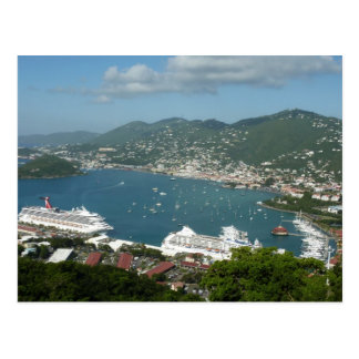 Puerto en la postal de St Thomas