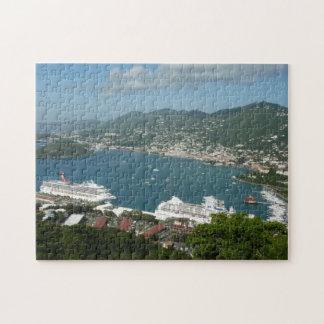Puerto en las Islas Vírgenes de St Thomas los Puzzle