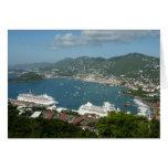 Puerto en las Islas Vírgenes de St Thomas los Tarjeta De Felicitación