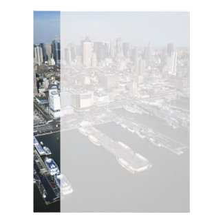 Puerto en New York City Membrete A Diseño