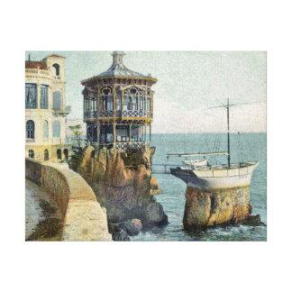 Puerto en Niza Francia Lienzo Envuelto Para Galerías