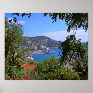 Puerto en Niza, Francia Impresiones
