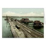 Puerto escena del puerto de Tampa, la Florida Tarjeta
