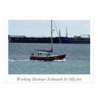 Puerto Falmouth por la fotografía de OllyArt Tarjetas Postales