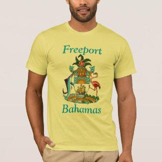 Puerto franco, Bahamas con el escudo de armas Playera