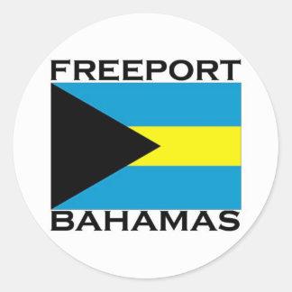 Puerto franco, Bahamas Etiquetas Redondas