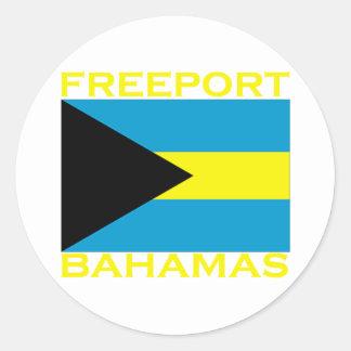 Puerto franco, Bahamas Pegatinas Redondas