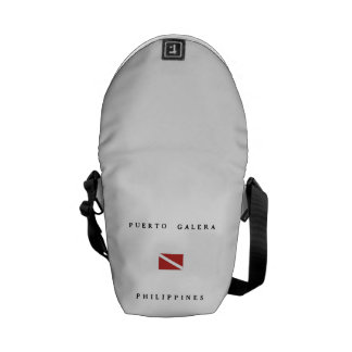Puerto Galera Philippines Scuba Dive Flag Courier Bag