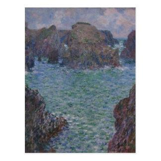 ¿Puerto-Goulphar de Claude Monet sumario Bellez Postal