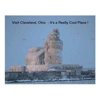 Puerto helado de Cleveland Postales