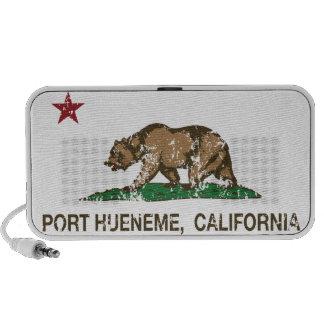 Puerto Hueneme de la bandera del estado de Califor iPhone Altavoz