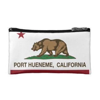 Puerto Hueneme de la bandera del estado de Califor