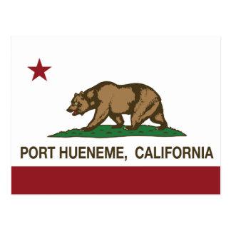 Puerto Hueneme de la bandera del estado de Califor Tarjetas Postales