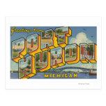 Puerto Huron, Michigan - escenas grandes 2 de la Postal