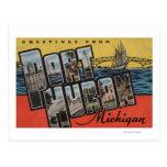 Puerto Huron, Michigan - escenas grandes de la Postal