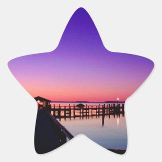 Puerto Hyannisport Massachusetts de la puesta del Pegatina En Forma De Estrella