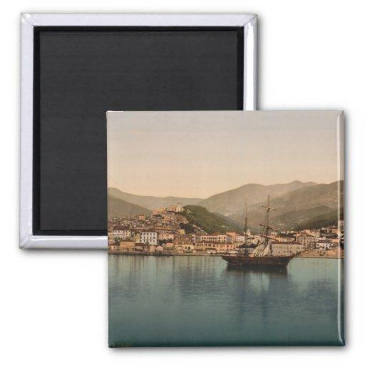 Puerto I, Liguria, Italia de Sanremo Imán Cuadrado