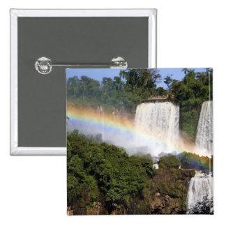 Puerto Iguazu, la Argentina. El impresionante Pin Cuadrada 5 Cm