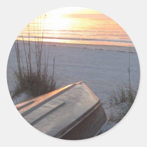 Puerto indio la Florida de Scruggs de la playa de Pegatina Redonda