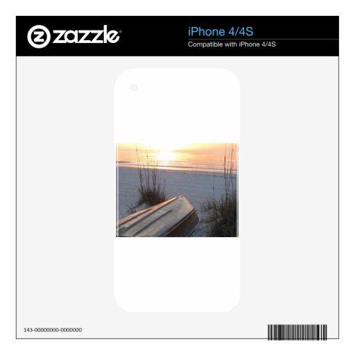 Puerto indio la Florida de Scruggs de la playa de  Skin Para El iPhone 4