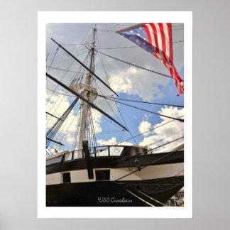 Puerto interno de Baltimore de la nave alta de la  Poster