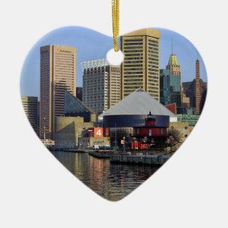 Puerto interno de Baltimore Adorno De Cerámica En Forma De Corazón