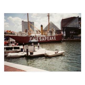 Puerto interno de Baltimore Tarjeta Postal