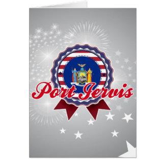 Puerto Jervis NY Felicitación