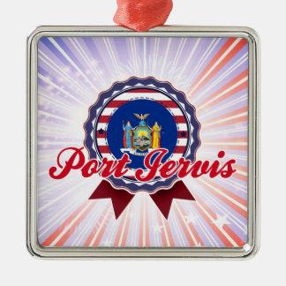 Puerto Jervis NY Ornamentos De Navidad