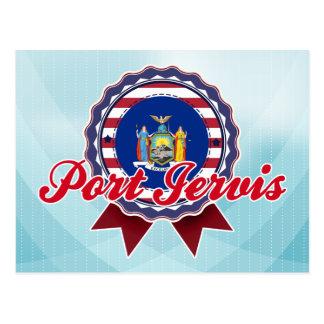 Puerto Jervis NY Tarjeta Postal