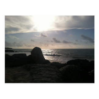 Puerto Lucaya, puerto franco, salida del sol de Postales