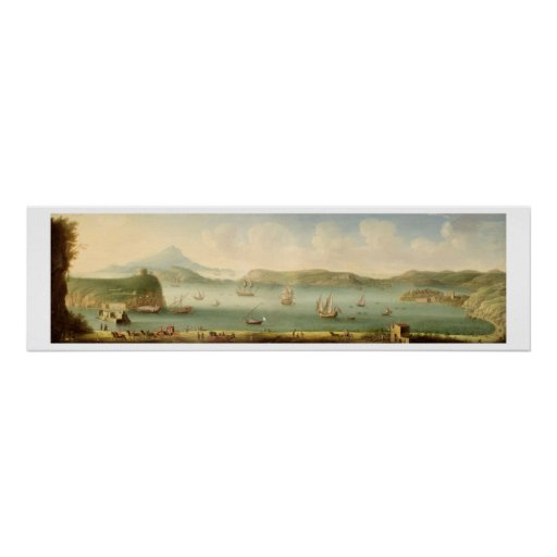 Puerto Mahon, Minorca, 1730's (aceite en lona) Poster
