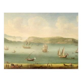 Puerto Mahon, Minorca, 1730's (aceite en lona) Postales