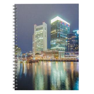 Puerto Massachusetts de Boston Libro De Apuntes Con Espiral