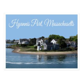 Puerto Massachusetts, postal de Hyannis de Cape Co