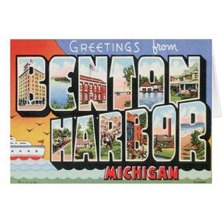 Puerto Michigan de Benton del vintage Tarjeta De Felicitación