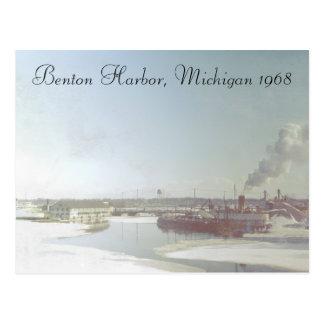Puerto Michigan de Benton y río Tarjeta Postal
