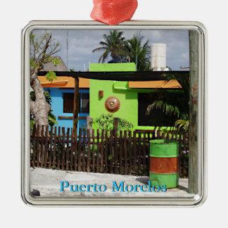 Puerto Morelos Casa Metal Ornament