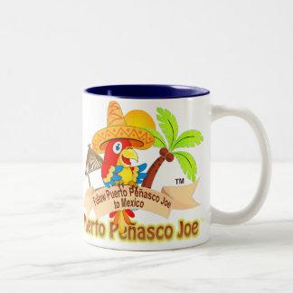 Puerto Penasco Mexico Parrot Two-Tone Coffee Mug