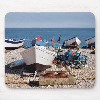 Puerto pesquero de Yport en Francia Alfombrillas De Ratones