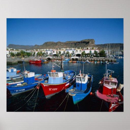 Puerto pesquero, Puerto de Mogan, Gran Canaria, Poster