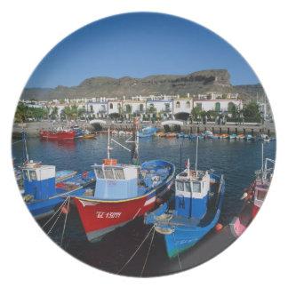 Puerto pesquero, Puerto de Mogan, Gran Canaria, Platos Para Fiestas