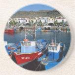 Puerto pesquero, Puerto de Mogan, Gran Canaria, Posavasos Para Bebidas
