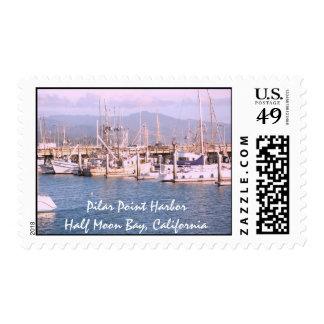 Puerto Pilar del punto - Half Moon Bay, sello del