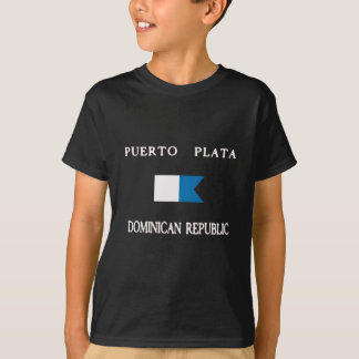 Puerto Plata Dominican Republic Alpha Dive Flag T-Shirt